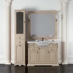 Мебель для ванной Opadiris Риспекто белый 105  107х90,5х51см. с керамичсекой раковиной