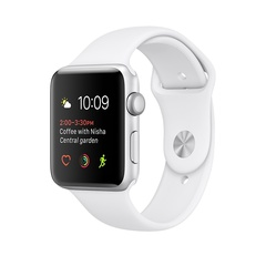 Apple Watch 2 Sport 42mm Silver Sport Band White