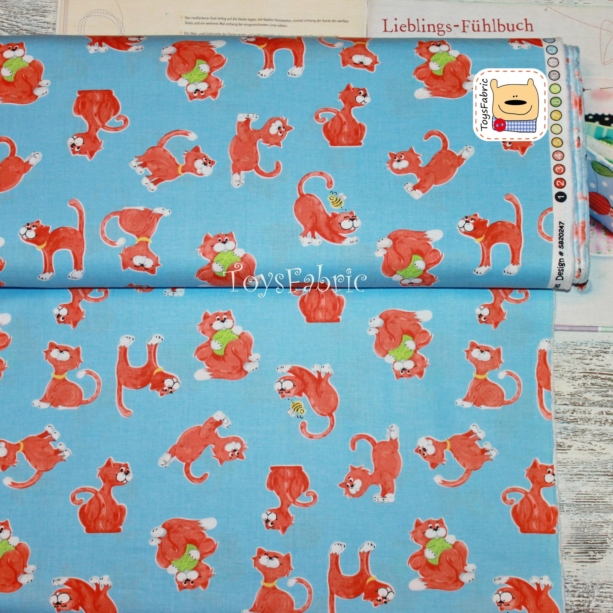 Ткань для пэчворка 20658 (озорные котики) 45х55см
