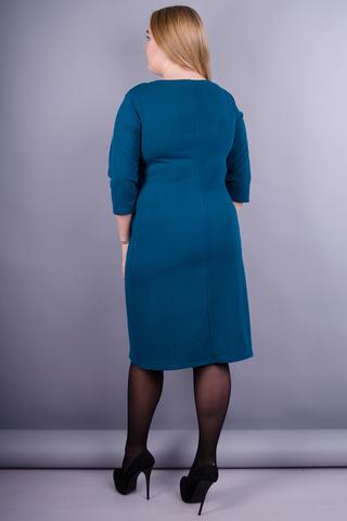 Тейлор. Женское платье плюс сайз. Изумруд.