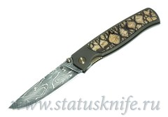Нож Чебуркова Стриж малый Custom дамаск и коралл