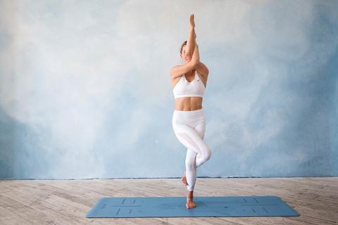 Каучуковый коврик для йоги Turtle с разметкой 185*68*0,4см