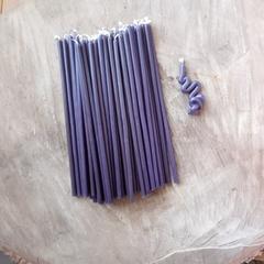 Восковые свечи  фиолетовые