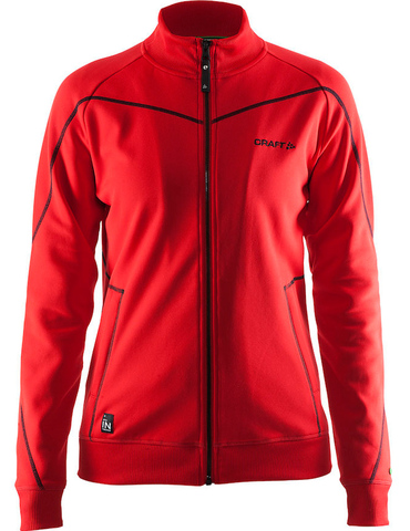 Куртка флисовая женская Craft In the Zone красная