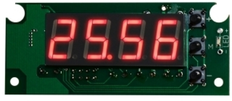 EK-STH0024UR - цифровой встраиваемый термостат с выносным датчиком, красный