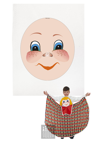 Фото Платковая кукла / Русский мальчик (лицо) рисунок Наборы для пошива