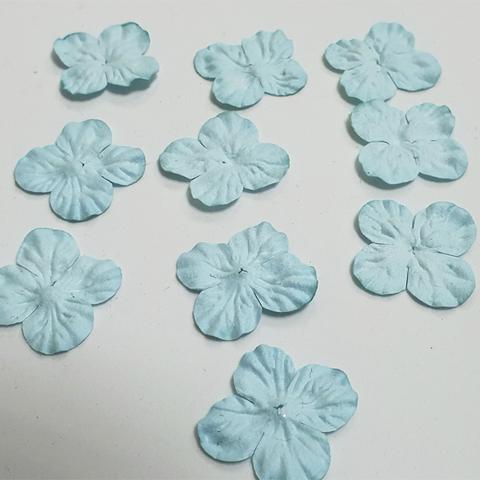Лепестки гортензии из бумаги, 3 см, 10 штук.