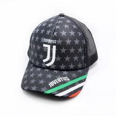 Кепка сеткой с логотипом Ювентус (Бейсболка Juventus) черная