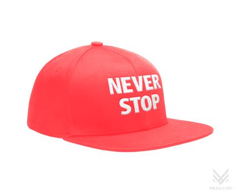 Кепка Never stop (розовая)