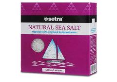 Соль морская крупная Сетра, 500г