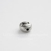 "Бусина овальная TierraCast ""Буква I"" 7х6х3 мм (цвет-античное серебро)"