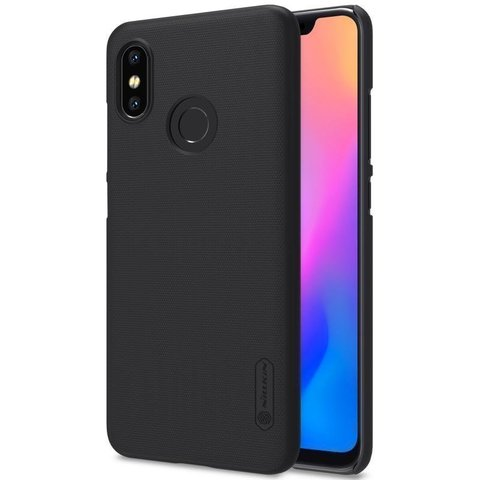 Чехол бампер Nillkin Super Frosted Shield для Xiaomi Mi 8  (Черный)