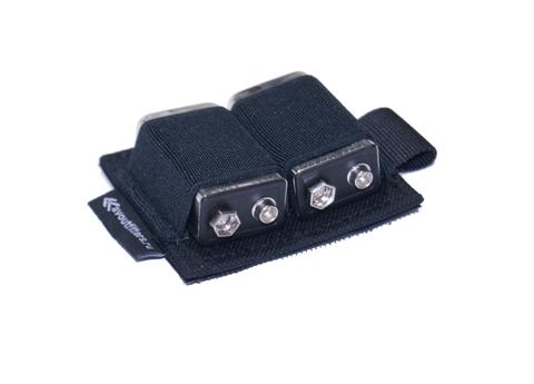Холдер для аккумуляторов на 2 аккумулятора (C/КРОНА) на контактной ленте (велкро)