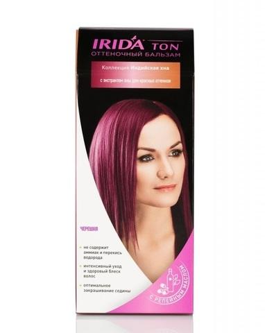 Irida Irida Ton Оттеночный бальзам для окраски волос Черешня 2*25мл