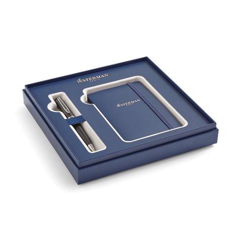 Набор с блокнотом и Шариковая ручка Waterman Expert 3, цвет: MattBlack CT123
