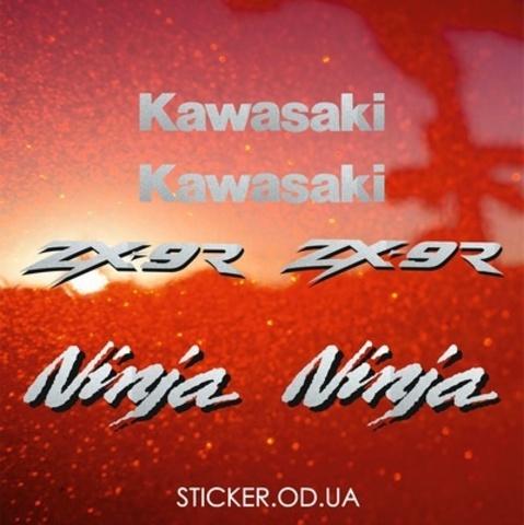 Набор виниловых наклеек на мотоцикл KAWASAKI ZX-9R 2000