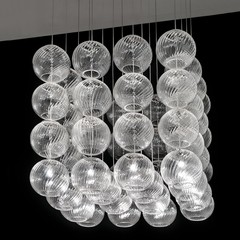 The Oto SP Cube Chandelier by Vistosi