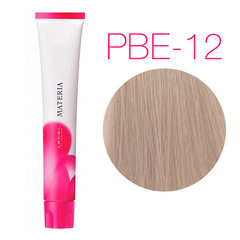Lebel Materia 3D PBe-12 (супер блондин розово-бежевый) - Перманентная низкоаммичная краска для волос