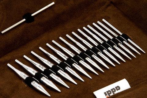 Набор круговых коротких спиц со сменными лесками addiClick LACE Short Tips Германия арт.750-2/000