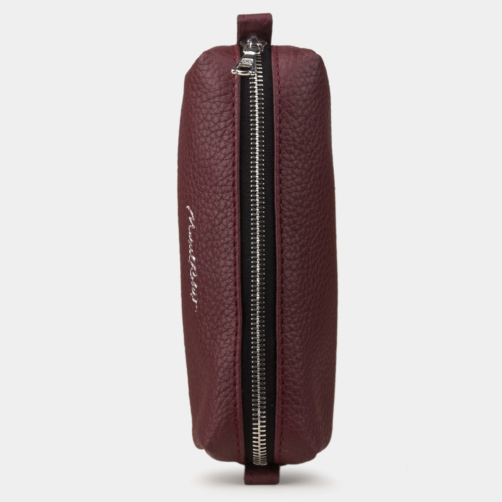 Ключница Cofre Easy из натуральной кожи теленка, бордового цвета