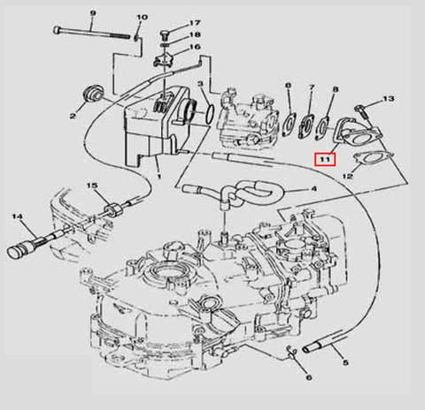 Коллектор для лодочного мотора F5 Sea-PRO(6-11)