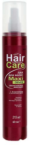 Витэкс Professional Hair Care Лак для волос МaxiОбъём сверхсильной фиксации с D-пантенолом и протеинами риса 215 мл