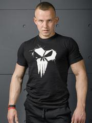Мужская футболка Olimp Live & Fight Skull Black