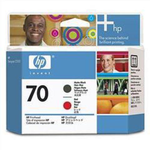 печатающая головка HP 70 Red-Matte Black