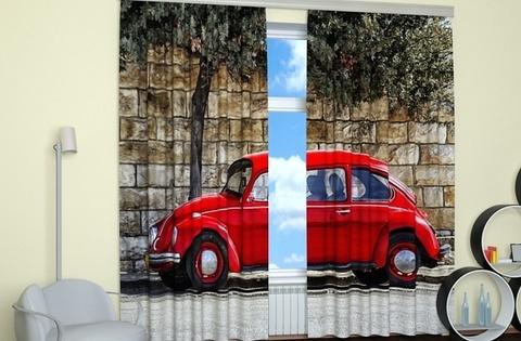 Фотошторы: Маленькое красное авто