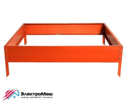Клумба оцинкованная 500х500 мм, оранжевая