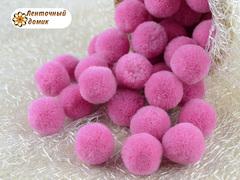 Помпоны кашемировые ярко-розовые 20 мм
