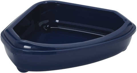Moderna туалет-лоток угловой Corner Tray 55x45x13h см, синий