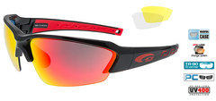 Спортивные очки goggle HAWK race black/red