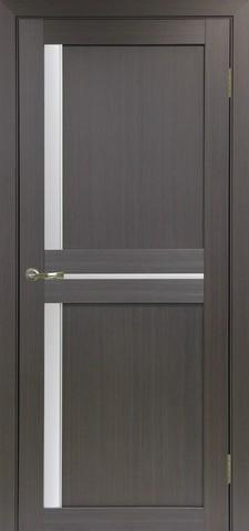 Дверь Optima Porte Турин 523.221АПС молдинг SC, стекло матовое, цвет венге, остекленная