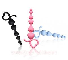 Анальная цепочка Lola Toys Begginers Beads (3 х 14 см)