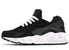 Кроссовки Женские Nike Air Huarache Black White Speck