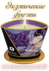 Массажная свеча Shunga с ароматом экзотических фруктов (170 мл)