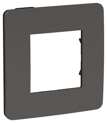 Рамка на 1 пост. Цвет Дымчато-серый/антрацит. Schneider Electric Unica Studio. NU280222