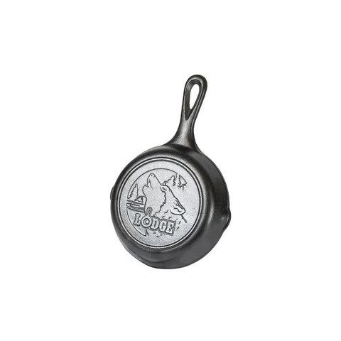 Сковорода чугунная  с лого Волк, артикул L3SKWLWF