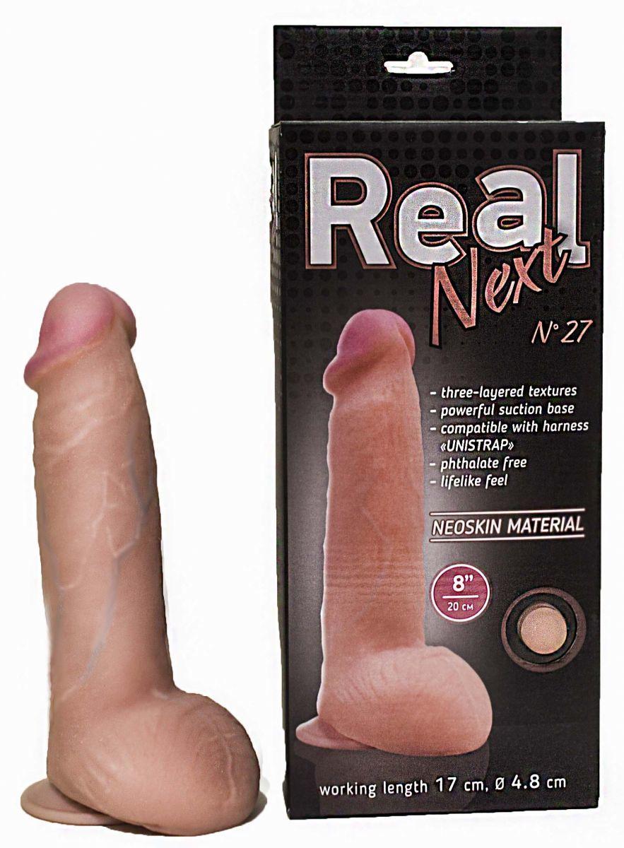 Реалистичные: Реалистичный фаллоимитатор на присоске REAL Next № 27 - 20 см.