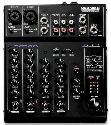 ART USBMix6 аналоговый микшер