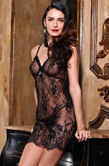 Сорочка женская из черного кружева MIA-AMORE Шанель  2020