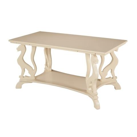 Журнальный стол Багира деревянный слоновая кость