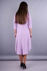 Лейла. Красивое женское платье плюс сайз. Сирень.