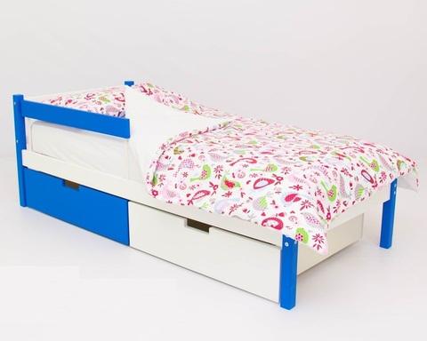 Кровать ФОРЕСТ сине-белый