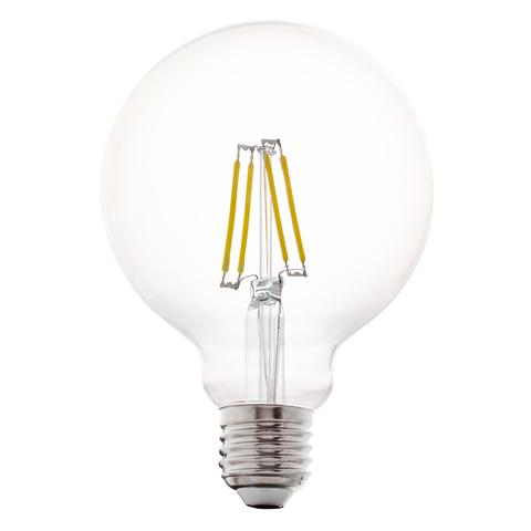 Лампа LED филаментная из прозрачного стекла Eglo CLEAR LM-LED-E27 4W 350Lm 2700K G95 11502