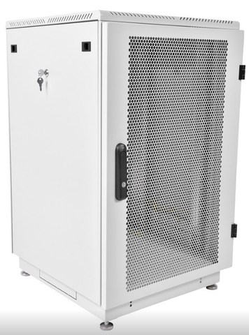 Шкаф телекоммуникационный напольный 22U (600 × 800) дверь перфорированная 2 шт.