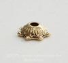 Шапочка для бусины  (цвет - античное золото) 6 мм, 10 штук