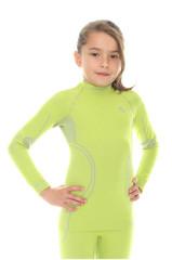 Термобелье рубашка детская Brubeck Thermo салатовая (LS11710) для девочек