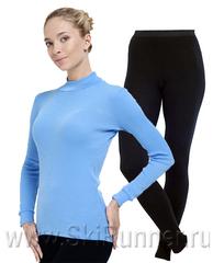 Комплект термобелья из шерсти мериноса Norveg City Style Soft Blue-Black женский